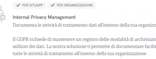 Internal Privacy Management